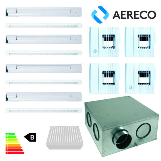 Aereco páraszabályozott szellőztetőrendszer komplett csomag nagyobb családi házhoz