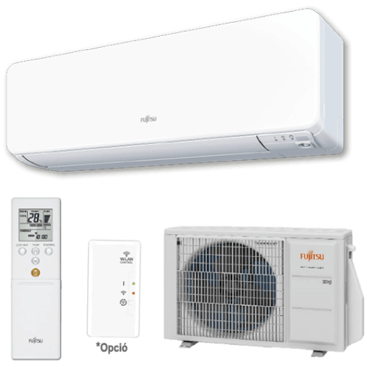 Fujitsu Design ASYG12KGTA / AOYG12KGCA oldalfali mono split klíma 3.4 kW