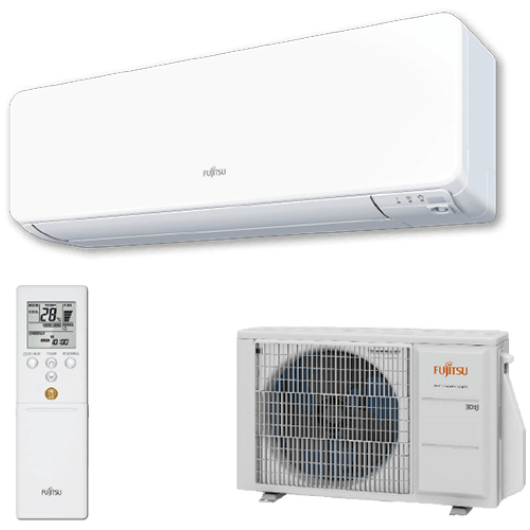Fujitsu Design ASYG12KGTB / AOYG12KGCA oldalfali mono split klíma 3.4 kW