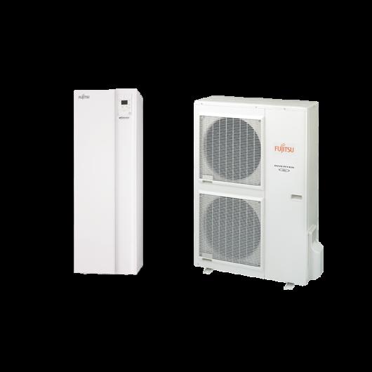 Fujitsu Waterstage HPDUO 11 / 1F High Power (WGYG140DG6 / WOYG112LHT) 1 fázisú osztott levegő-víz hőszivattyú HMV tartállyal 10.8 kW