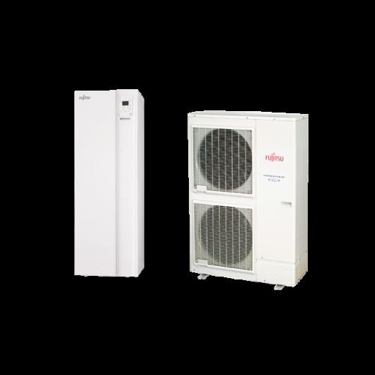 Fujitsu Waterstage HPDUO 11 / 3F High Power (WGYK160DG9 / WOYK112LCTA) 3 fázisú osztott levegő-víz hőszivattyú HMV tartállyal 10.8 kW
