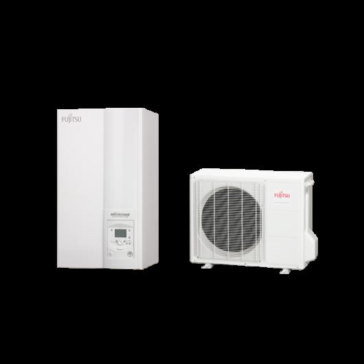 Fujitsu Waterstage S 8 Comfort V2 (WSYA100DG6 / WOYA080LFCA) 1 fázisú osztott levegő-víz hőszivattyú 7.5 kW