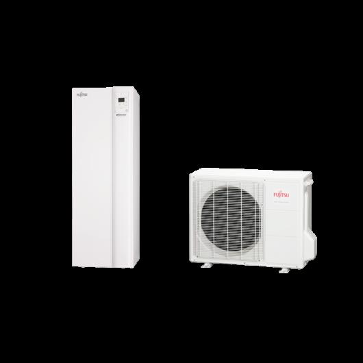Fujitsu Waterstage SDUO 10 Comfort (WGYA100DG6 / WOYA100LFTA) 1 fázisú osztott levegő-víz hőszivattyú HMV tartállyal 10 kW