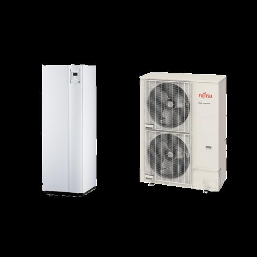Fujitsu Waterstage SHPDUO 16/1F Super High Power (WGYG160DJ6/WOYG160LJL) 1 fázisú osztott levegő-víz hőszivattyú HMV tartállyal 16 kW