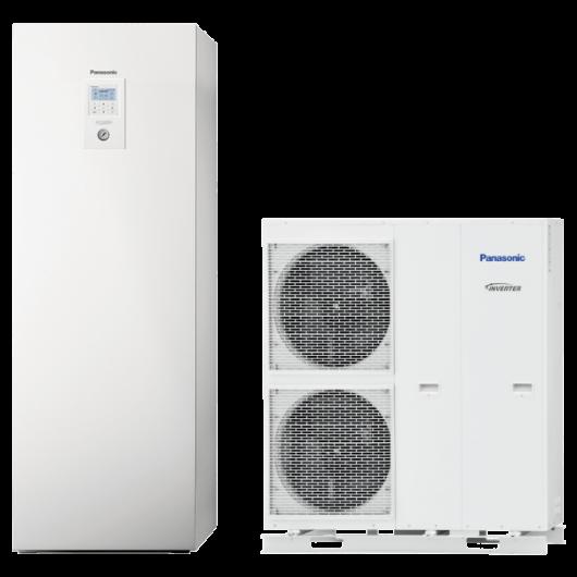 Panasonic Aquarea All In One T-CAP (WH-UX16HE8 / WH-ADC0916H9E8) 3 fázisú osztott levegő-víz hőszivattyú HMV tartállyal 16 kW