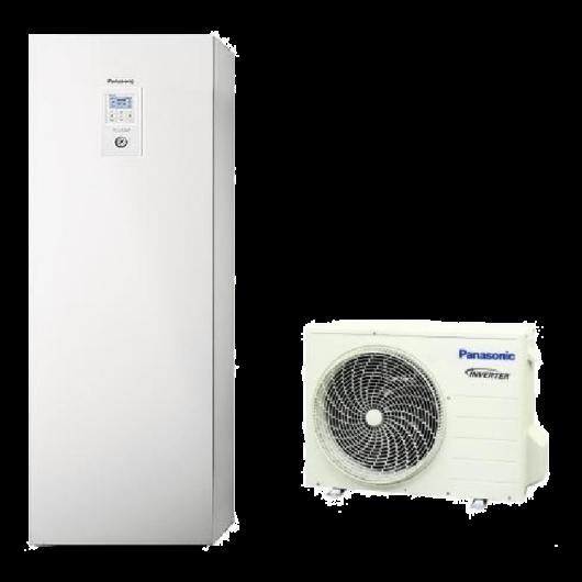 Panasonic Aquarea All In One High Performance (WH-UD07JE5 / WH-ADC0309J3E5) 1 fázisú osztott levegő-víz hőszivattyú HMV tartállyal 7 kW