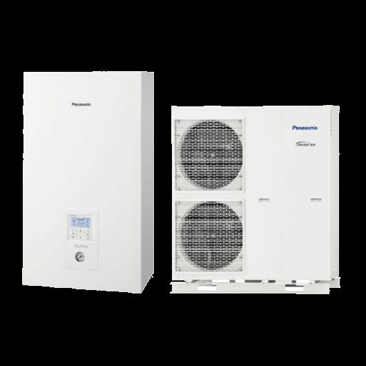 Panasonic Aquarea All In One T-CAP (WH-UQ12HE8 / WH-ADC0916H9E8) 3 fázisú osztott levegő-víz hőszivattyú HMV tartállyal 12 kW