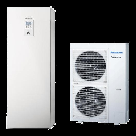 Panasonic Aquarea All In One T-CAP (WH-UX09HE8 / WH-ADC0916H9E8) 3 fázisú osztott levegő-víz hőszivattyú HMV tartállyal 9 kW